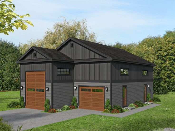 062g 0226 Garage Loft Plan Garage Plans With Loft Country Style House Plans Pool House Plans