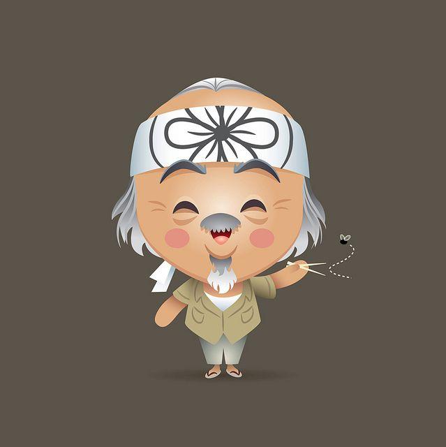 Kawaii Mr. Miyagi by Jerrod Maruyama, via Flickr