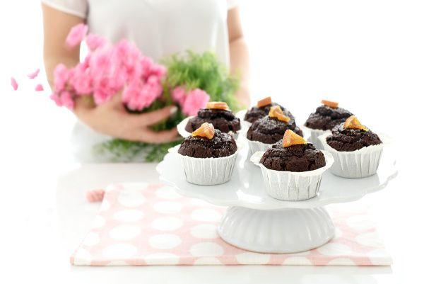 Magdalenas de chocolate y naranja | Velocidad Cuchara