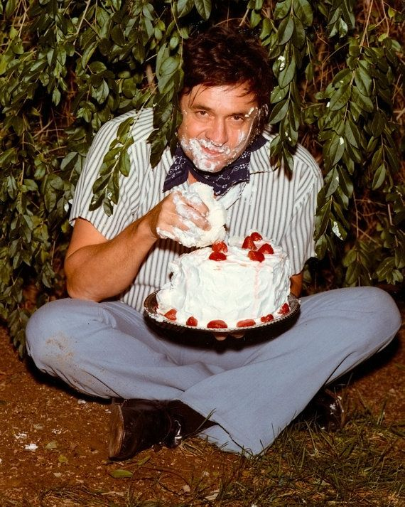 Johnny Cash Cake Photo for the Back Cover of the