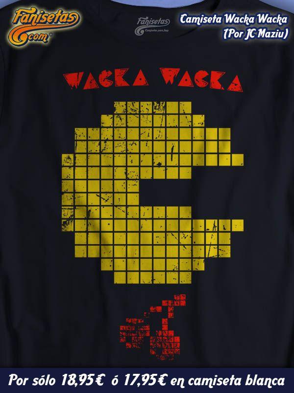 """Os acordáis del sonido que hacía #PacMan en las recreativas? No? """"Wacka Wacka"""" smile emoticon #Camisetas #Videojuegos #Fanisetas http://www.fanisetas.com/wacka-wacka-p-5832.html"""