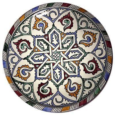 "Moroccan Mediterranean Design Color Serving Centerpiece Plate Wall Decor 12""ø"