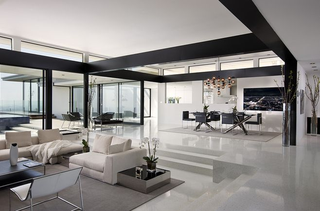 Sunken living rooms are designed to bring you a unique visual style and great detail all the time.