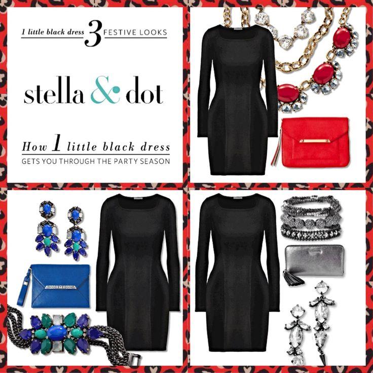 Accessorizing a black dress party
