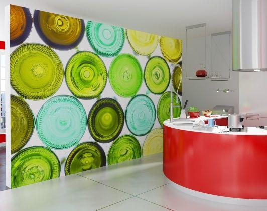 Colorful Bottle Bottoms - Fototapeter & Tapeter - Photowall
