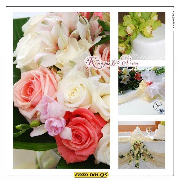 Kristýna a Ondřej, svatební květiny