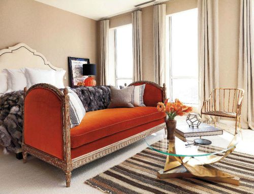 Couch at the foot of the bed dream home pinterest for Sofa at foot of bed