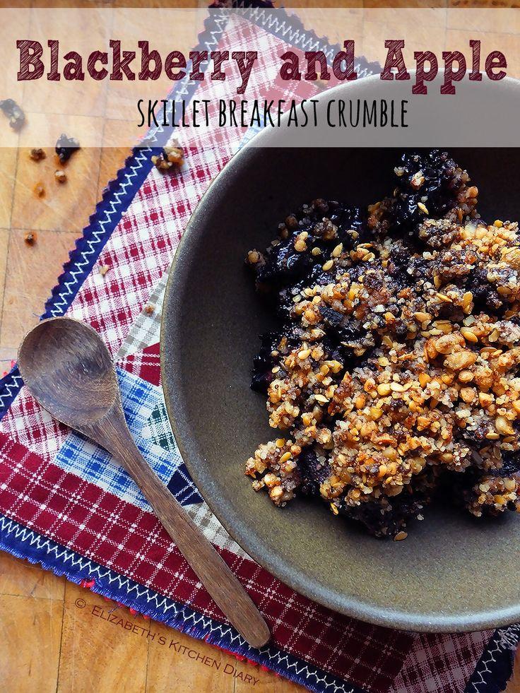 Blackberry & Apple Skillet Breakfast Crumble from Elizabeth's Kitchen @TangoRaindrop #FourSeasonsFood #GettingFruity