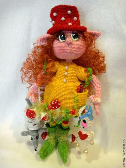 Лесная эльфочка Кукуся - эльф,девочка,лесной эльф,лесной житель,вязаная кукла