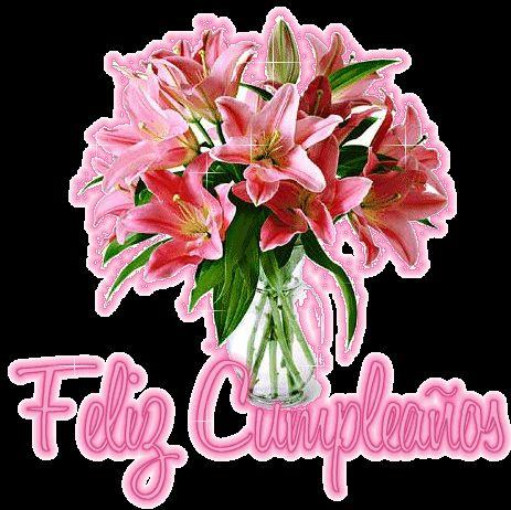targetas de cumpleaños con flores gratis para saludar a una amiga por face | Publicado por PazenlaTormenta - Judith Arias Sarmiento - en 12:33