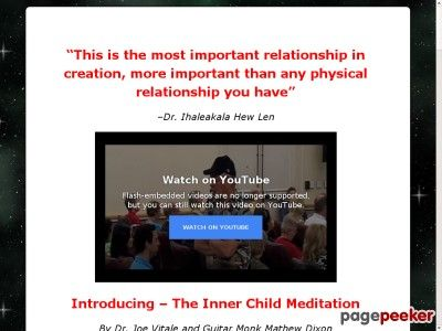 awesome #Dr. Joe Vitale's Inner Child Meditation