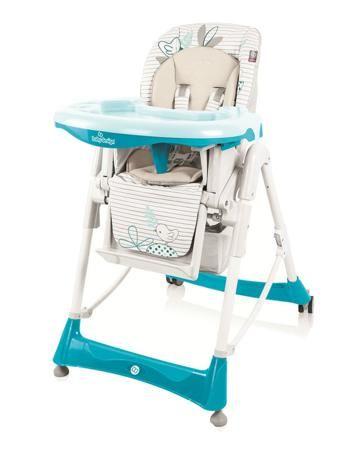 Baby Design для кормления Bambi new бирюзовый  — 8190р. -------- Бирюзовый стульчик для кормления Baby Design Bambi new с регулировкой высоты и наклона спинки. Есть съемный поднос. Стул оборудован колесиками.