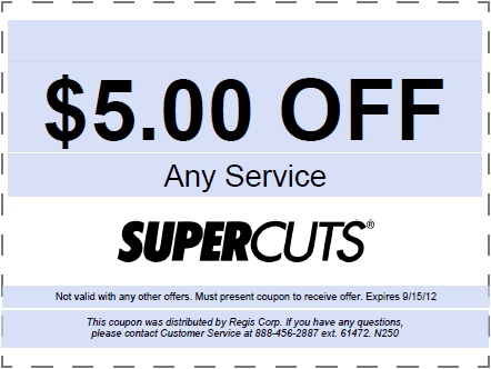 Supercuts coupons