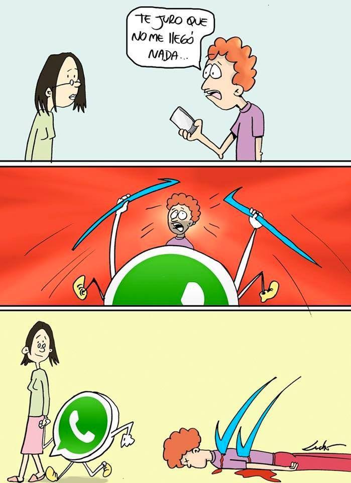 WhatsApp y el doble check. #humor #risa #graciosas #chistosas #divertidas