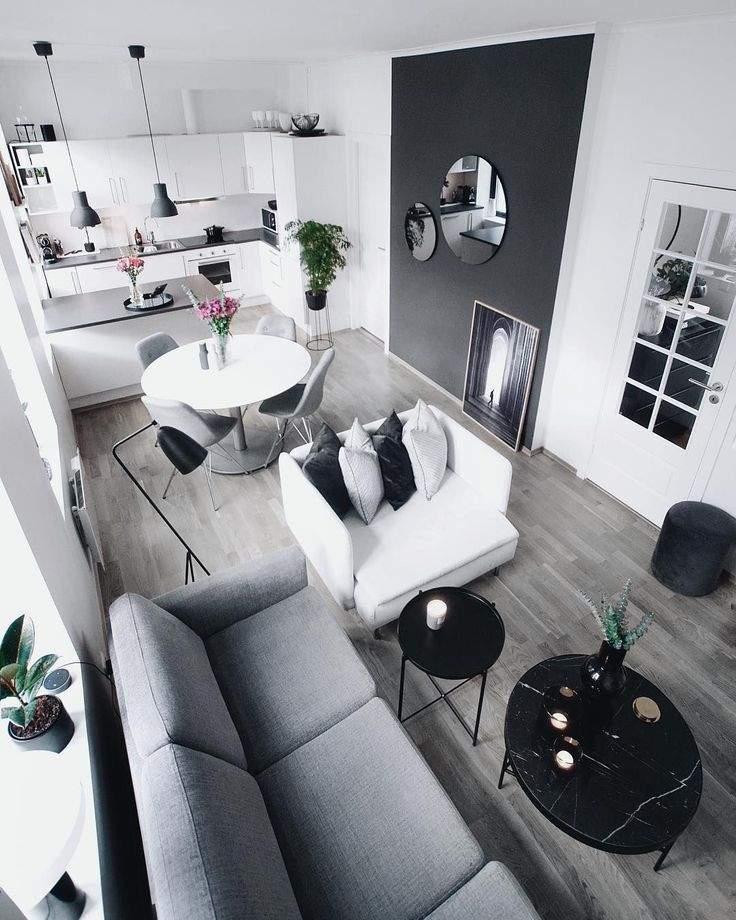 Creative And Inexpensive Cool Ideas Minimalist Decor With Color Black White Mod Modern Minimalist Bedroom Minimalist Living Room Mid Century Living Room Decor