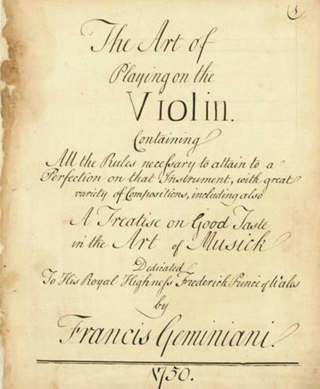 Poster ' Playing the  Violin  Francisco  Geminiani