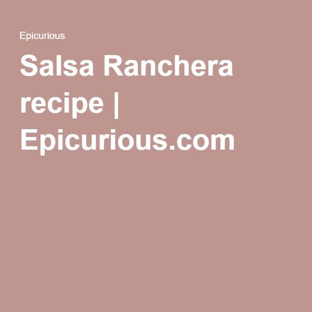 Salsa Ranchera recipe | Epicurious.com