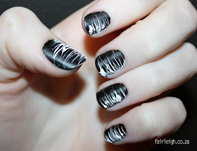 Caught in a Web - Nail Art Tutorial - FairLeigh - The Girlier Side of a Geek