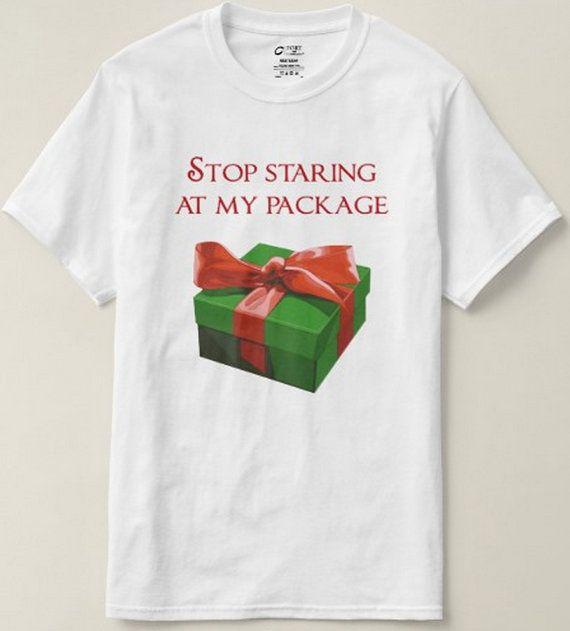 Funny Christmas Shirt  Stop Staring At My by xOnceUponADesignx