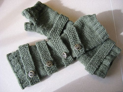 Steampunk Arm Warmers by Erin Kalendar, pattern available for purchase on Ravelry