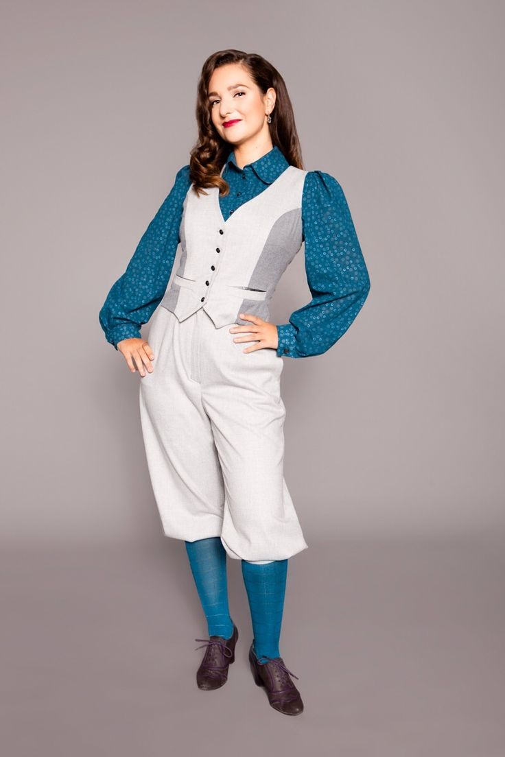 1930s inspired vest and knickerbockers with blouse by MARLENES TOECHTER