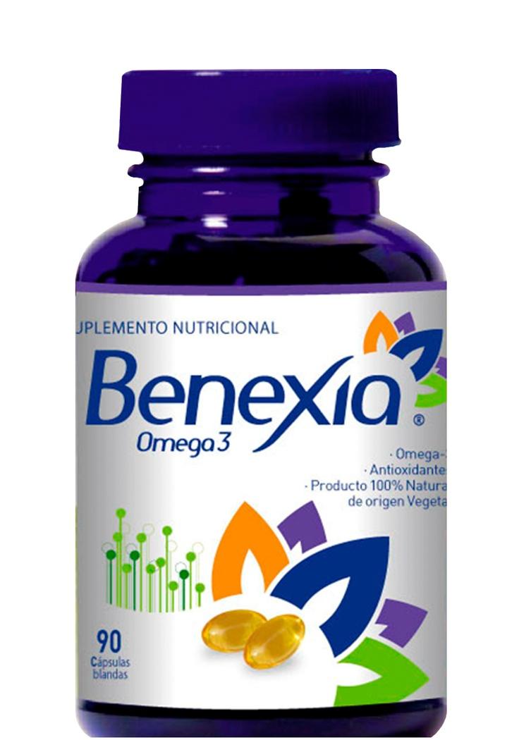 CAPSULAS DE ACEITE DE CHIA BENEXIA  Mayor contenido de Omega-3.  100% vegetal.  Sin colesterol, sin grasa trans.  Sin olor o sabor a pescado, sin reujo.  Mejor sabor que el aceite de linaza.  Sin problemas de seguridad, sin  anti-nutrientes, sin toxicidad y alergia  como los relacionados con la linaza.  Mucho más barato por gramo de  Omega-3 que en el aceite de pescado.