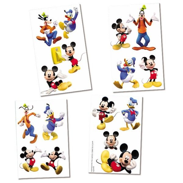 Mickey Mouse Clubhouse Temporary Tattoos | 16 ct for $1.90 in Mickey Mouse - Party Themes