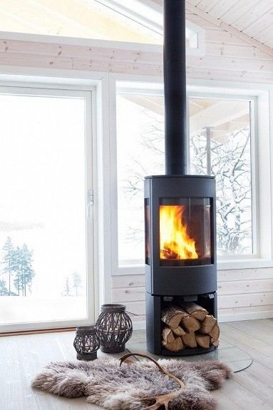 Wood burner ideas - simple. Like