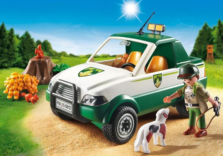 Ride along with the Playmobil ranger with his hunting dog aboard in the forest looking after things. On the back of the car is a lot of space, eg for the food for forest animals. After removing the vehicle roof 2 PLAYMOBIL figures can be placed on the seats. As a passenger can ride a child figure. - With hunting dog and 2 squirrels. - Incl. Forester equipment including (rucksack, rifle and binoculars). $39.99