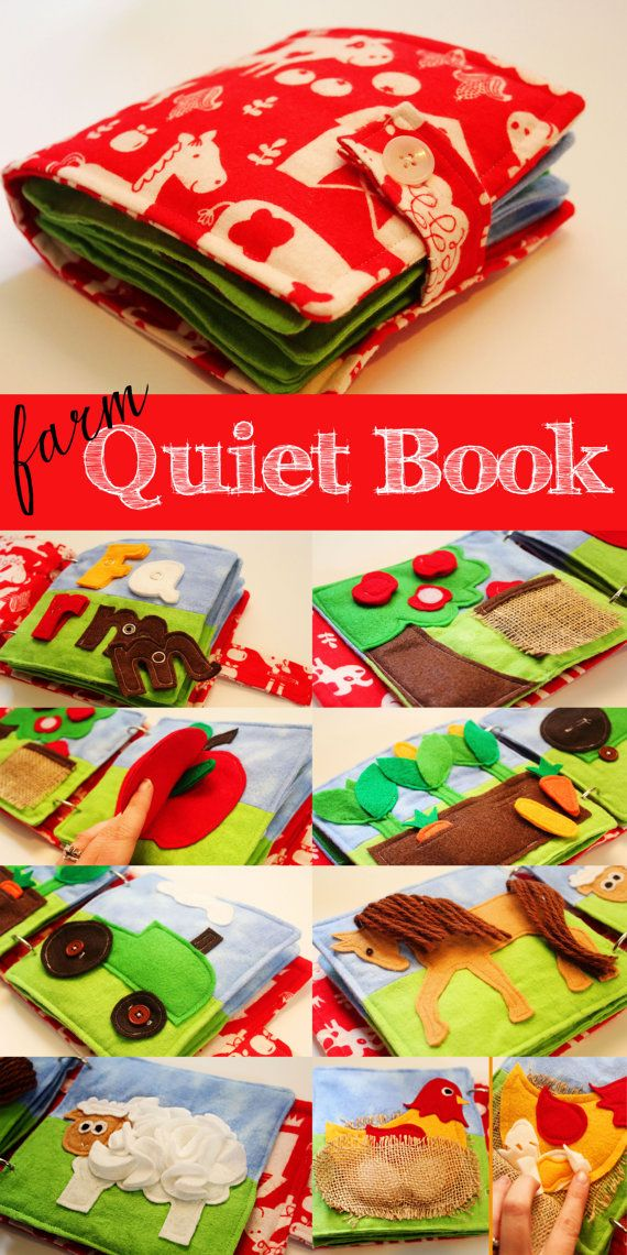 Farm Quiet Book by LifeInOurNomad on Etsy, $40.00 EMBROIDERY NOW AVAILABLE!!
