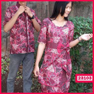 """Dress Batik Couple Pringgondani Kode : 23103  Harga : 130.000  Size :  – Pria : Ld= 53 cm P=70 cm  – Wanita : Ld= 46 cm P= 96 cm  Pada Dress Wanita dibagian pinggan belakang  Terdapat kerutan Karet yang elastis  Bahan : Kain Katun ====================  yukk order dengan sms ke 08999-89-59-39 atau add bbm kami di 26C8CC65 """"DICARI RESELLER DAN DISTRIBUTOR DI INDONESIA"""""""