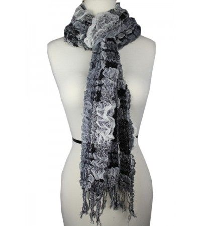 Striped Colourful Winter Fashion Scarf White  Luxurious Soft Cotton Wool Material  Approximately 64 in Length  Approximately 12 - 18 in Width  Approximate Size:Â  64L x 12-18 W  Color: White  Model: SRFWSS 147