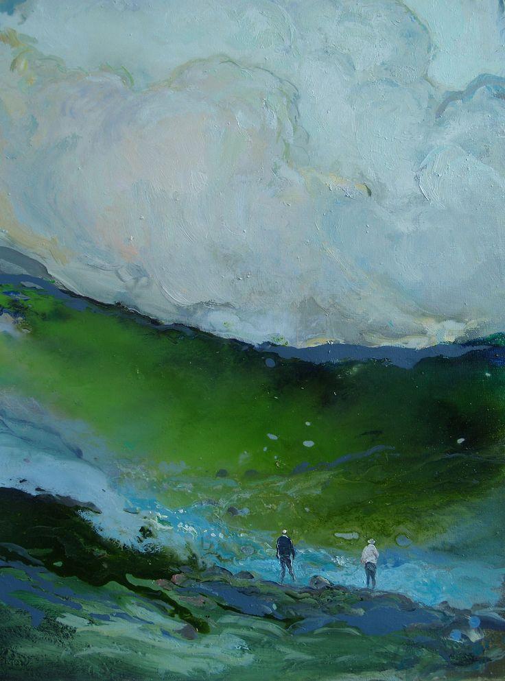 Tuomo Saali Running water filosofy, oil on canvas,2016-17, 70x65cm