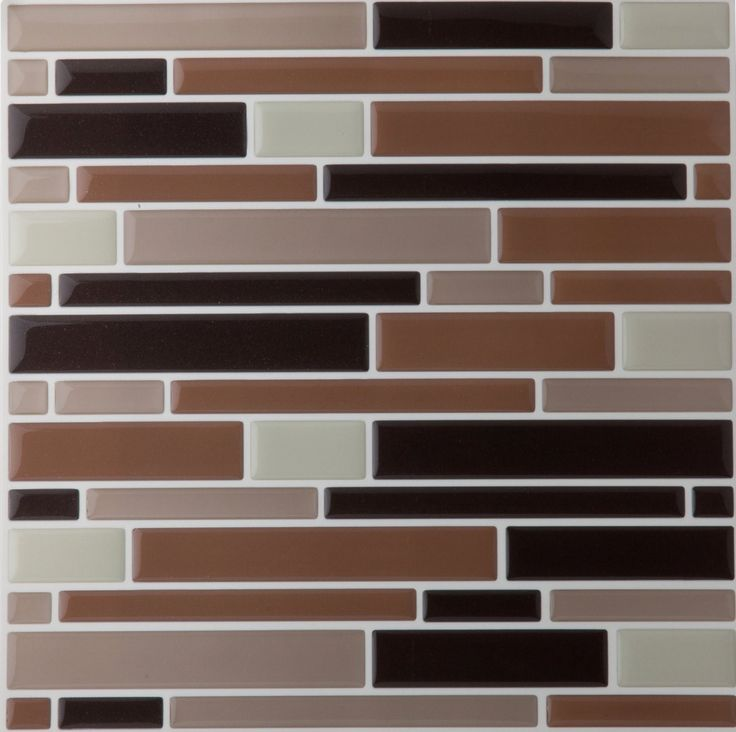 Park Avenue Collection Magic Gel Wall Tile Coffee/Beige Piano Mosaic