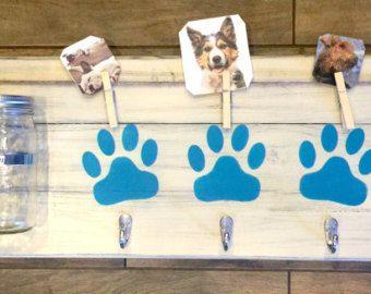 Dog Leash holder dog treat holder dog decor dog by PeavyPieces