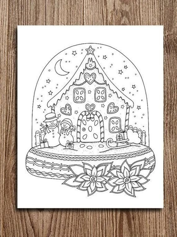Printable Digital Coloring Page For Grownups Merry Christmas Etsy Christmas Coloring Sheets Christmas Drawing Christmas Coloring Pages