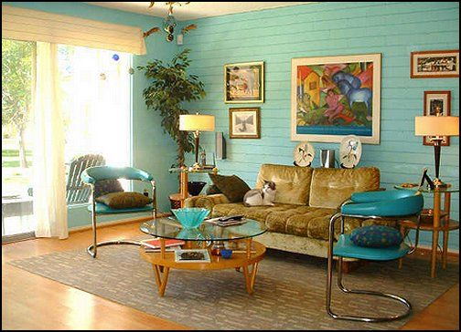 Midcentury Retro Living Rooms From The