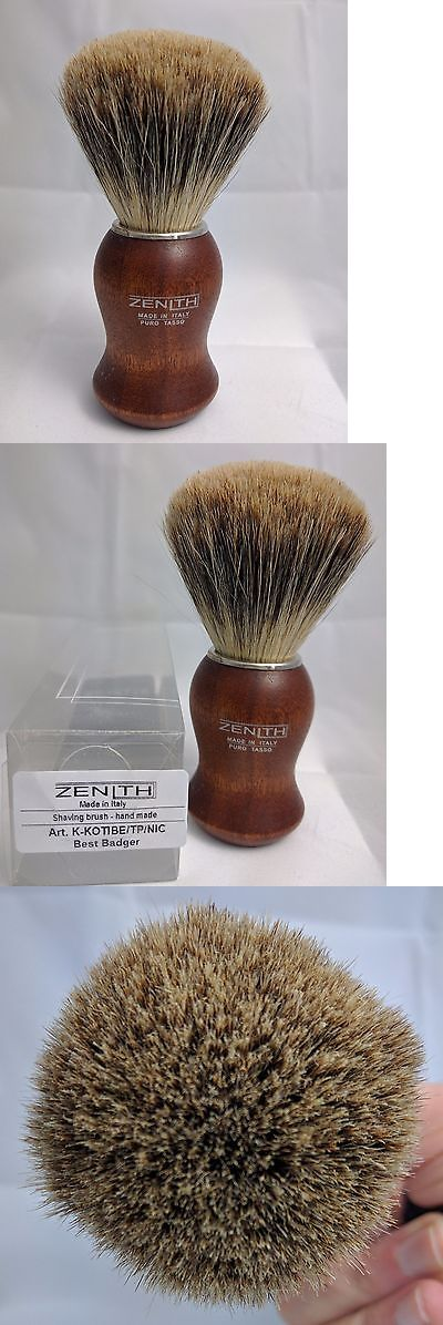 Shaving Brushes and Mugs: Zenith Kotibe Best Badger Shave Brush. 24.5 Mm. Made In Palermo, Italy T4 -> BUY IT NOW ONLY: $35 on eBay!