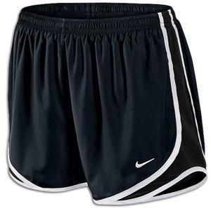 Lady Foot Locker Nike Tempo Shorts in black/volt/matte silver 31.99
