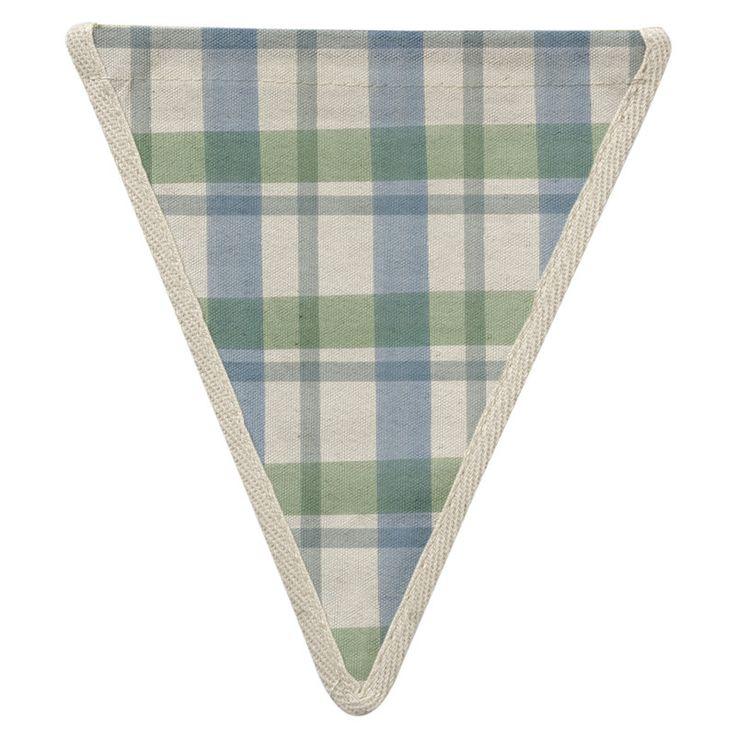 Meri Meri Alphabet Bunting - Checked Pattern -  Bunting - Meri Meri UK - Putti Fine Furnishings Toronto Canada - 1