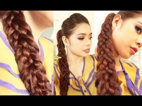 Basket Weave Braid Hair Tutorial with a No Teasing Hair Poof