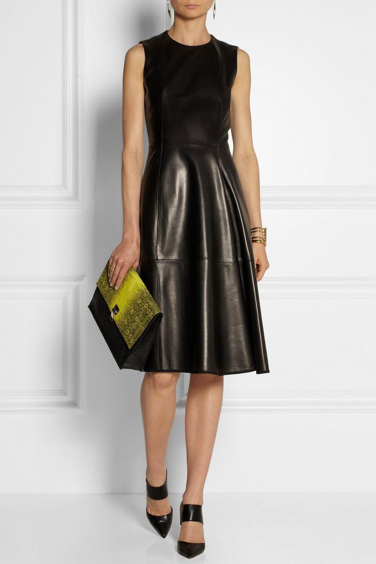 The Row Ottamae leather dress NET-A-PORTER.COM