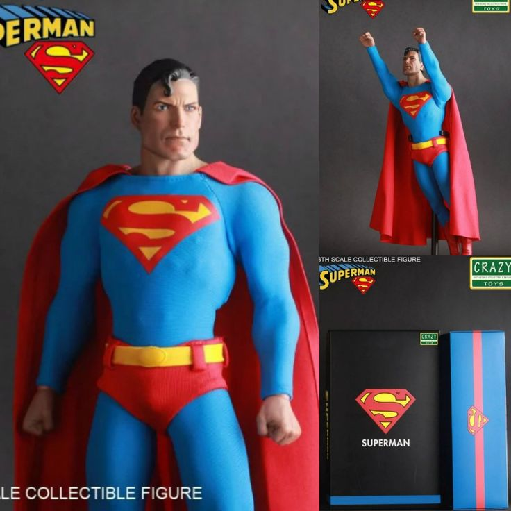 (62.75$)  Buy here  - DC anime Superman Display CRAZY TOYS Film Edition 12 Inch DIY Model action figures for children kids gift