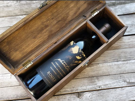 Custom Engraved and Personalized Wedding Wine Box by arrowsarah
