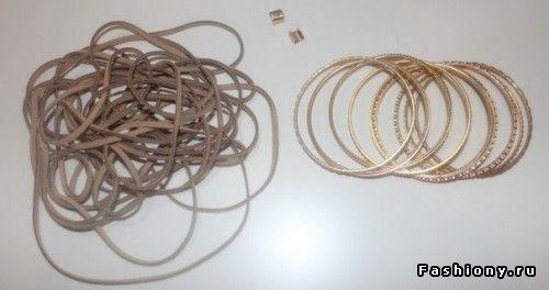 Бижутерия своими руками (часть 3) / браслет из цепочек и лент