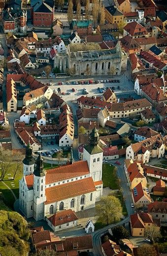 Old city, historical, aerial view. Visby. Gotland. Sweden