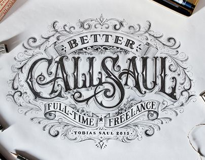 Hand-drawn Type Artworks 2015