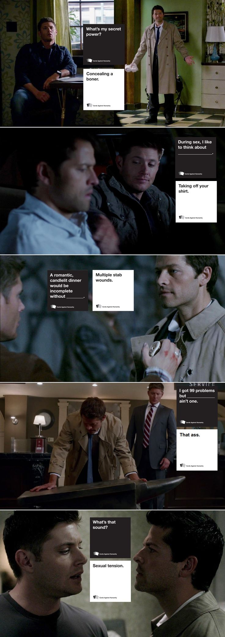 "Cards Against Humanity... (Or ""Cards Against Dean,"" if you think about it...)"