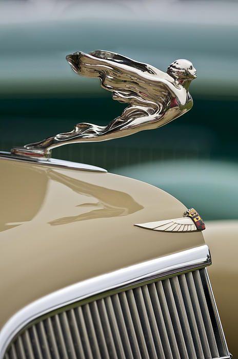 1935 Cadillac Convertible Hood Ornament - Jill Reger - Photographic prints for sale