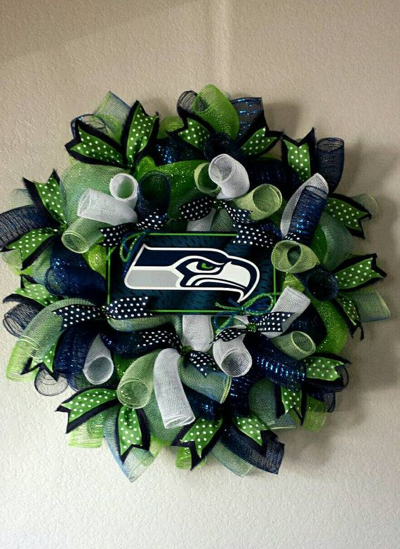 Seattle Seahawks Wreath by AnyOccasionWillDo on Etsy